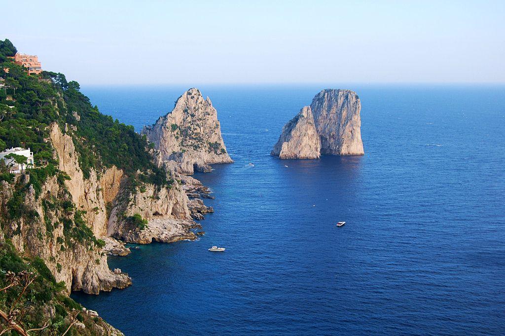 Capri island boat tour sorrento coast amalfi coast hostel luxury room pool faraglioni